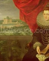 The Infanta Isabella Clara Eugenia (1566-1633) (oil on canvas) (pair of 197174) wall mural thumbnail