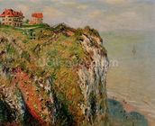 Cliff at Dieppe, 1882 (oil on canvas) wall mural thumbnail