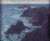 The Rocks at Belle-Ile, the Wild Coast, 1886 (oil on canvas) wall mural thumbnail