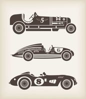 Vintage Racing mural wallpaper thumbnail