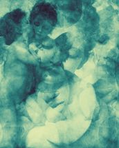 Softly Softly Turquoise Blue wallpaper mural thumbnail