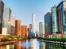 Chicago Downtown Waterway wall mural thumbnail
