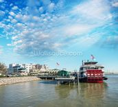 New Orleans Steamboat wallpaper mural thumbnail