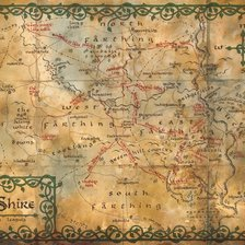 Map of The Shire, The Hobbit wall mural