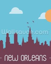 New Orleans Skyline Illustration wallpaper mural thumbnail