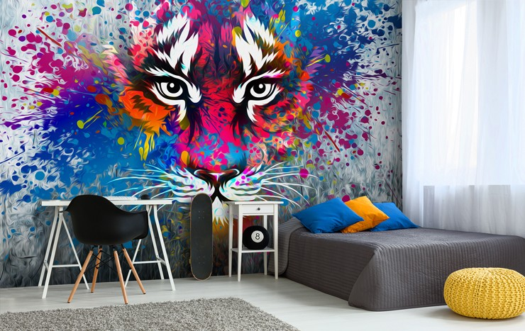 Graffiti wallpaper for your teenager s bedroom wallsauce Painting graffiti on bedroom walls