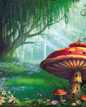 Enchanted Forest mural wallpaper thumbnail