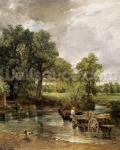 The Hay Wain, 1821 (oil on canvas) wall mural thumbnail