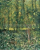 Trees and Undergrowth, 1887 (oil on canvas) mural wallpaper thumbnail