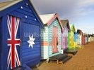 Brighton Bathing Boxes wall mural thumbnail