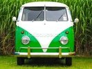 Green VW Camper wall mural thumbnail