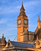 Big Ben and Westminster Abbey mural wallpaper thumbnail