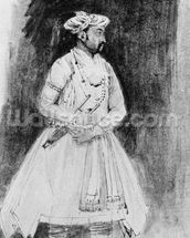 A Mughal Nobleman, c.1659 (pen, ink & wash on paper) wall mural thumbnail