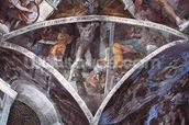 Sistine Chapel Ceiling: Haman (spandrel) (pre restoration) wallpaper mural thumbnail