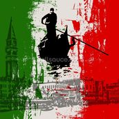 Italian Flag Abstract mural wallpaper thumbnail