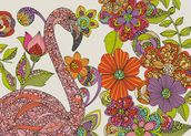 Flamingo Puzzle mural wallpaper thumbnail