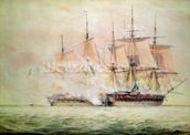 Boarding the Chesapeake (w/c on paper) wall mural thumbnail