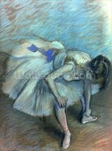 Seated Dancer, c.1881-83 (pastel on paper) wall mural thumbnail