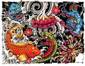 Tattoo mural wallpaper thumbnail