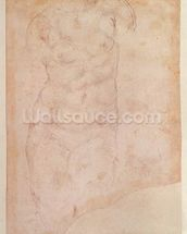Study of a Female Nude (black chalk on paper) mural wallpaper thumbnail