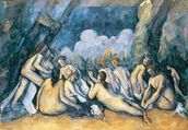 The Large Bathers, c.1900-05 (oil on canvas) wallpaper mural thumbnail