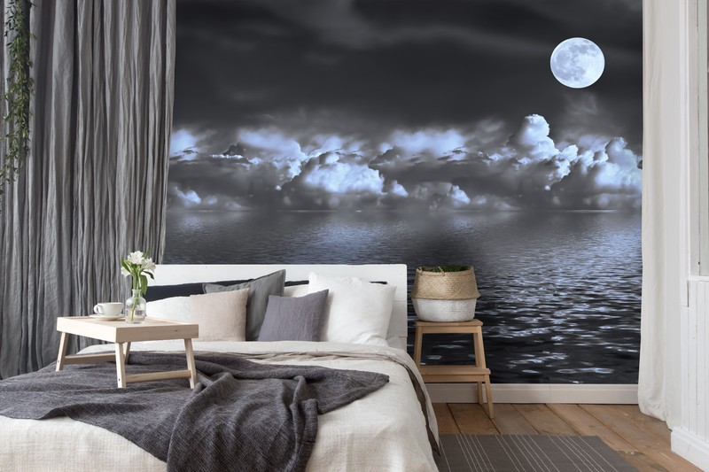 moon-wallpaper-guest-bedroom-decor