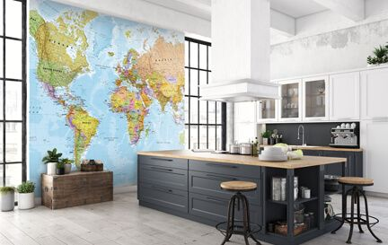 Kitchen Wallpaper. Wall Mural Wallpaper