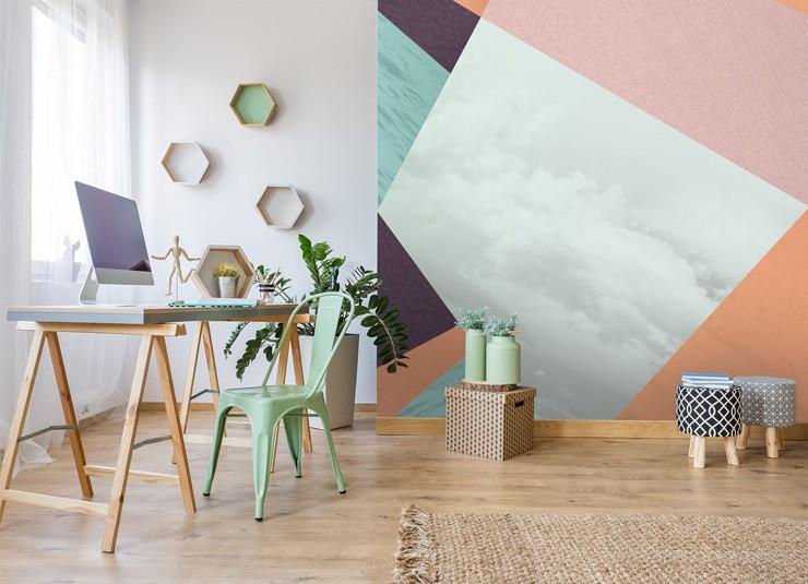 home office wallpaper. Geometric-office-wallpaper. \u0027 Home Office Wallpaper