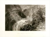 Chain Bridge over the River Tees, 1838 (etching & engraving) wallpaper mural thumbnail