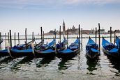 Blue Gondolas mural wallpaper thumbnail