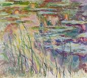 Reflections on the Water, 1917 (oil on canvas) wall mural thumbnail