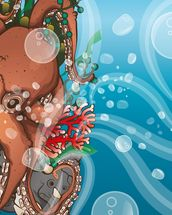 Octopus Waves (2014) mural wallpaper thumbnail