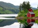 Red House on the Lake wall mural thumbnail
