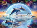 Dolphins by Moonlight wall mural thumbnail
