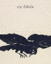 Le Corbeau (The Raven), 1875 (litho) mural wallpaper thumbnail
