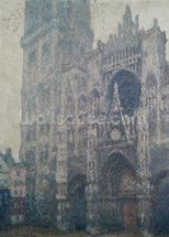 Rouen Cathedral, West Portal, Grey Weather, 1894 (oil on canvas) wall mural thumbnail