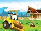Cartoon Digger wall mural thumbnail