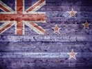 New Zealand Flag on Wood wall mural thumbnail