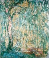 The Large Willow at Giverny, 1918 (oil on canvas) wall mural thumbnail