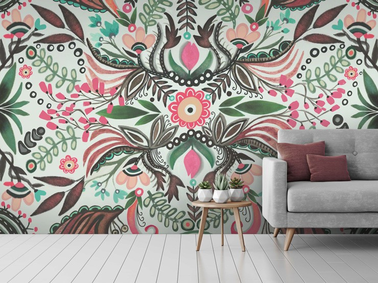 patterned mural by Lori Perez