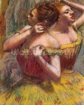 Two Dancers (pastel on paper) wall mural thumbnail