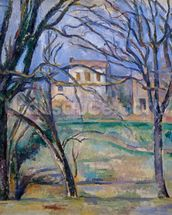 Trees and houses, 1885-86 (oil on canvas) (see also 287556) wall mural thumbnail