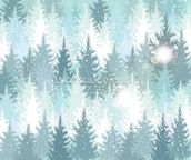 Winter Forest wall mural thumbnail