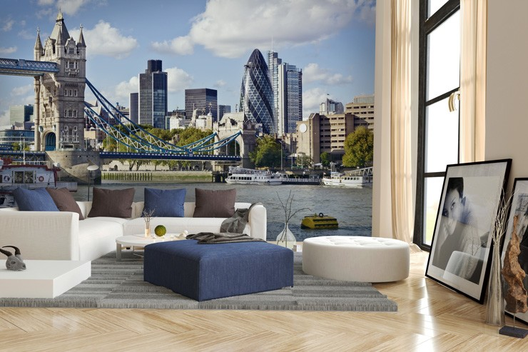 London_skyline_wallpaper_in_lounge