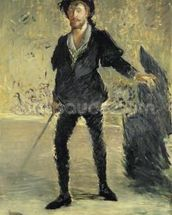 Jean Baptiste Faure (1840-1914) in the Opera Hamlet by Ambroise Thomas (1811-86) (Study), 1877 (oil on canvas) wall mural thumbnail