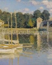 The Bridge at Argenteuil, 1874 (oil on canvas) wall mural thumbnail
