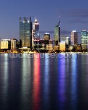 Perth by Night wall mural thumbnail