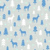 Snowbound Deer wallpaper mural thumbnail