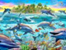 Dolphin Reef wall mural thumbnail