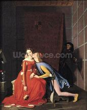 Francesca da Rimini and Paolo Malatesta, 1819 (oil on canvas) mural wallpaper thumbnail